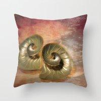 shells Throw Pillows featuring Shells  by KunstFabrik_StaticMovement Manu Jobst