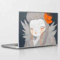 hawaiian Laptop & iPad Skins featuring Hawaiian Raven by STUDIOKILLERS