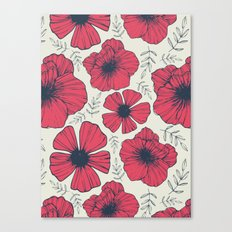 Raspberry Flowers Canvas Print