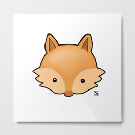Baby Fox Kawaii Metal Print