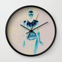 princess leia Wall Clocks featuring Leia by AUTOMATIXX