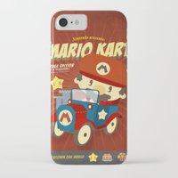 mario kart iPhone & iPod Cases featuring mario kart vintage by danvinci