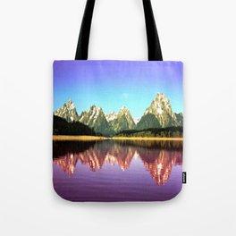 Grand Tetons 🌄 Purple Reflection Tote Bag