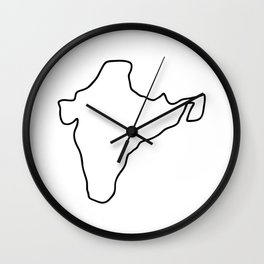 India Indian map Wall Clock
