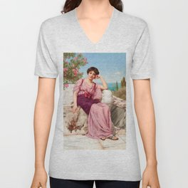 "John William Godward ""Sweet Dreams"" Unisex V-Neck"