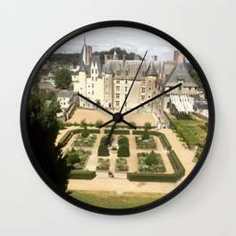 French Medieval Castle Wall Clock