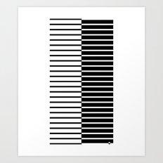 Zebra Plays Piano Art Print