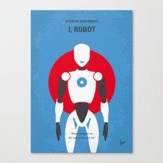 No275 My I ROBOT minimal movie poster Canvas Print