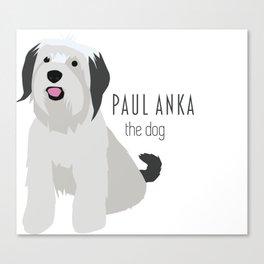 Paul Anka, the dog. Canvas Print