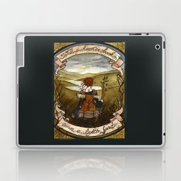With a heavier back comes a lighter spirit Laptop & iPad Skin