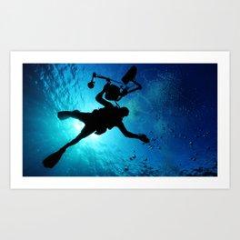 Scuba Diver Cameraman Art Print