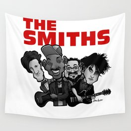 The Smiths (white version) Wall Tapestry