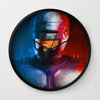 cyclops Wall Clocks featuring CYCLOPS by John Aslarona