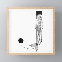Mermaid Alphabet Series - J Framed Mini Art Print