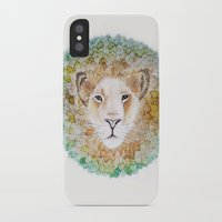 simba iPhone & iPod Cases featuring Simba by Juliette Thornbury