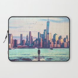 New York City Skyline and Birds Laptop Sleeve