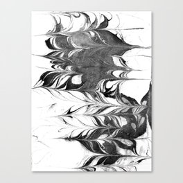Marble Suminagashi 3 watercolor pattern art pisces water wave ocean minimal design Canvas Print