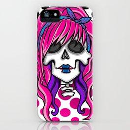 'Rockabilly skull' iPhone Case