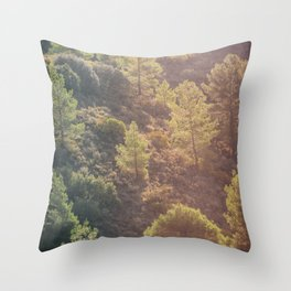 Pines in the mountains Throw Pillow