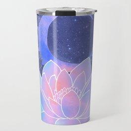 moon lotus flower Travel Mug