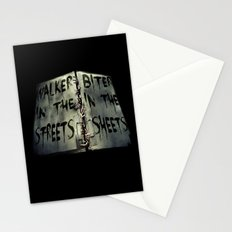 Walker in the Streets, Biter in the Sheets Stationery Cards