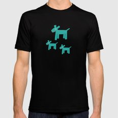 Dogs-Teal Black MEDIUM Mens Fitted Tee