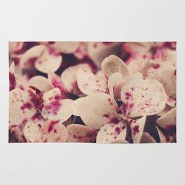 hydrangea - pink freckles Rug