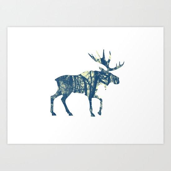 Moose Two Art Print