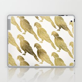 Perched Parrot – Gold Palette Laptop & iPad Skin