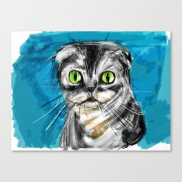 Scottish Fold Cat Canvas Print