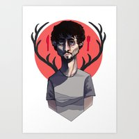 will graham Art Prints featuring Will Graham by nucleir