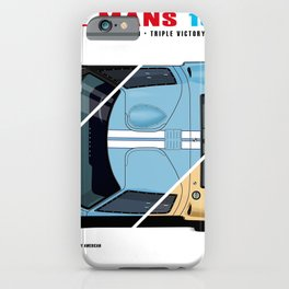 GT40 1966 Triple Victory iPhone Case
