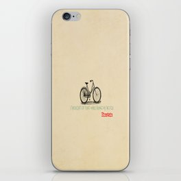 I Thought Of That While Riding My Bicycle Einstein iPhone Skin