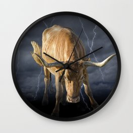 The Bull, a symbol of the increase in financial markets Wall Clock