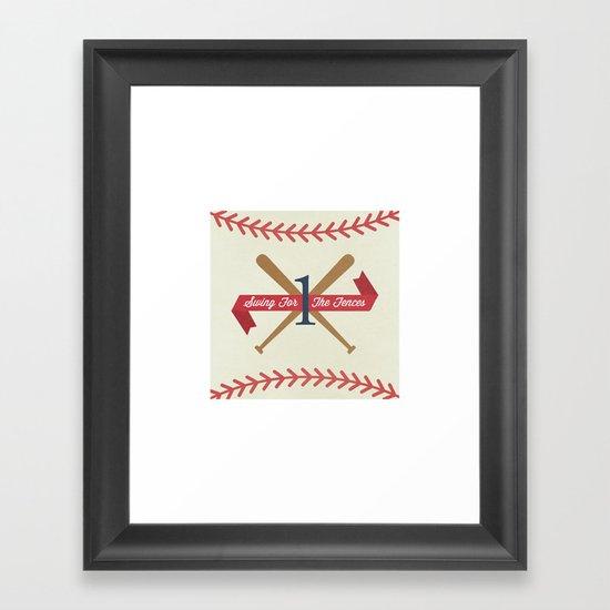 #1 Fan Framed Art Print