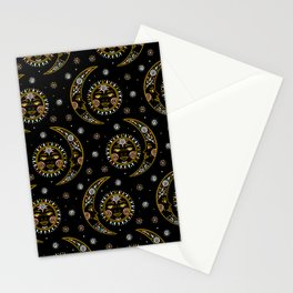 Celestial pattern in tribal style and ethnic motif Stationery Cards