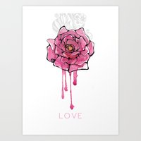 Love Rose Art Print