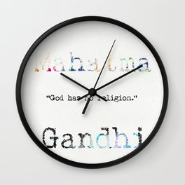 Mahatma Gandhi quote 2 Wall Clock
