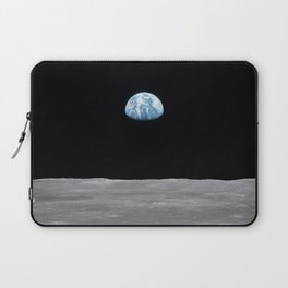 Earth rise over the Moon Laptop Sleeve
