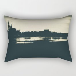 Silhouette des Dresdener Elbufers Rectangular Pillow