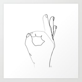 """ Profile Collection "" - OK Hand Sign Art Print"