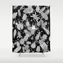Coleoptera Shower Curtain