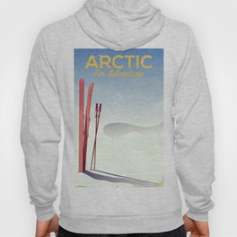 Arctic For adventure vintage poster Hoody
