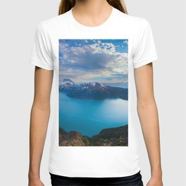 british columbia canada mountains lake view from above T-shirt