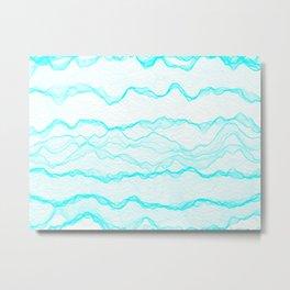 Haze Aqua Metal Print