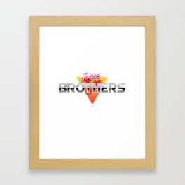 Jonas Brothers Retro Wave Framed Art Print
