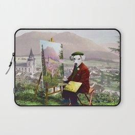 Sir Langford Labrador While Plein Air Painting Laptop Sleeve