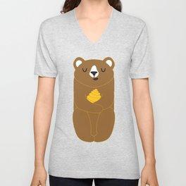 The Honey Bear Unisex V-Neck