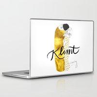 klimt Laptop & iPad Skins featuring Klimt golden by Henrique Nobrega