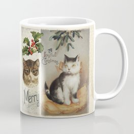 Merry Catmas vintage cat xmas illustration Coffee Mug